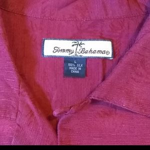 Tommy Bahama Silk Shirt Large
